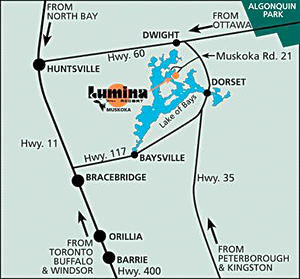 Lumina Resort Driving Map